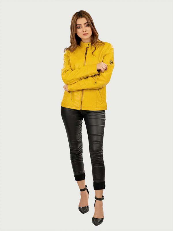 Blueorn Clara Classic Women Leather jacket fornt 2