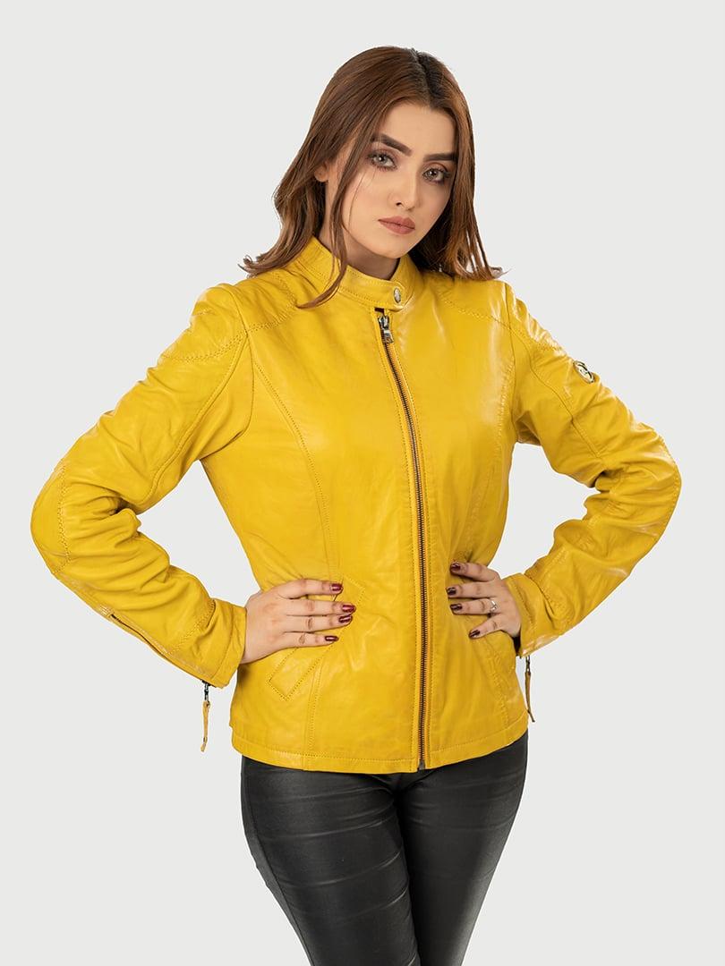 Blueorn Clara Classic Women Leather jacket font