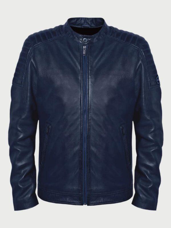 Edvin men leather jacket front