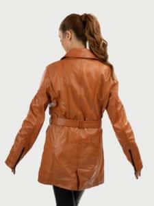 Elin women leather coat back 2