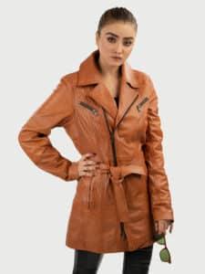 Elin women leather coat style 3
