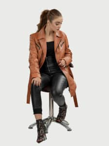 Elin women leather coat style 4