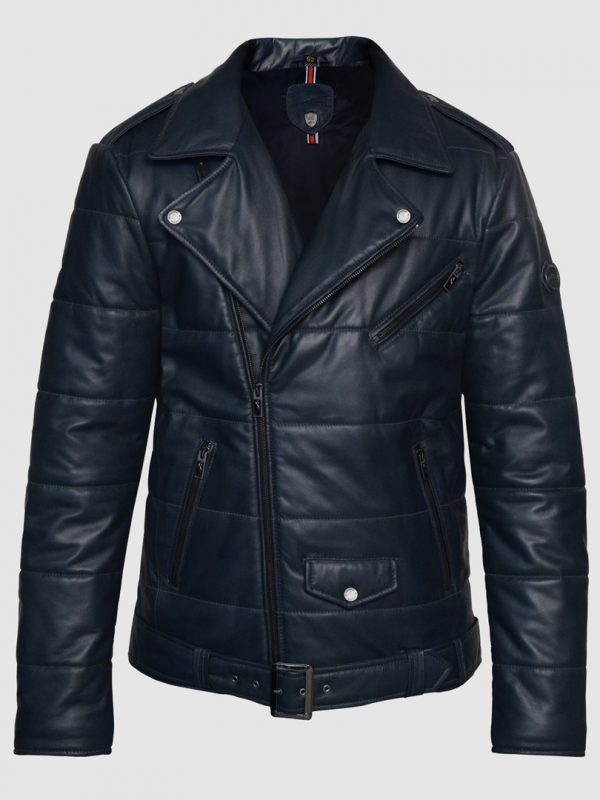 Blueorn Zale Quilted Leather Jacket Front
